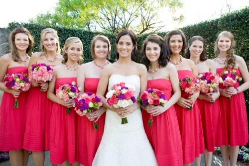 Jackie and her beautiful bridesmaids